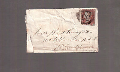 GREAT BRITAIN 1841 QUEEN VICTORIA ONE PENNY # 3 on COVER !!