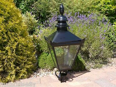 Black Steel Victorian Style Street Lantern Lamp Top for Cast Iron Post 32x15""