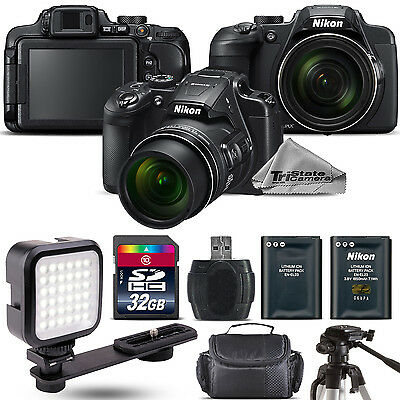 Nikon COOLPIX B700 Digital 20.2MP 4K WiFi NFC Camera 60x Zoom + LED - 32GB Kit