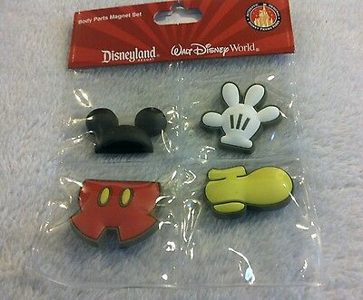 Disney Body Parts Magnet Set of 4 New in Package