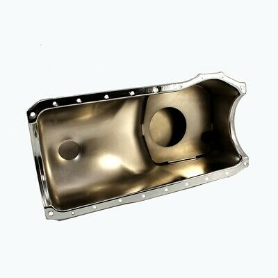 1970-1982 Ford 351C M 400 Front Sump Chrome Oil Pan - Stock Capacity Cleveland