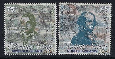 2000 Norfolk Island Bounty Day Set Of 2 Stamps Fine Mint Mnh/muh