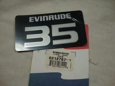 Genuine Evinrude 35 front decal plate cowl