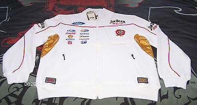 Jim Beam Racing DJR Ford Mens Warm V8 Supercar Zip Fleece Top Size M New