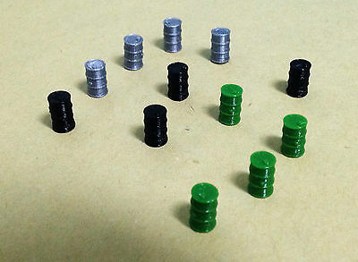 Outland Models Railway Train Layout Oil Drum x12 for Factory / Depot HO OO Scale