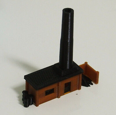 Outland Models Railway Miniature Small Boiler House with Chimney N / Z Gauge
