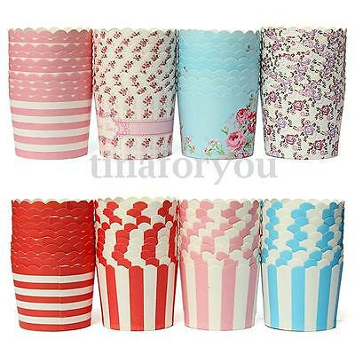50pcs Cupcake Liners Paper Cake Baking Cup Muffin Cases Xmas Wedding DIY Tools