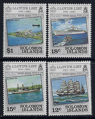 1984 Solomon Islands Lloyds List Set Of 4 Fine Mint Mnh