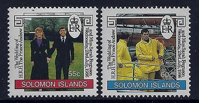 1986 Solomon Islands Royal Wedding Prince Andrew Set Of 2 Fine Mint Mnh/muh