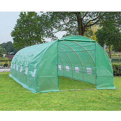 26' x 10' x 7' Portable Walk-In Garden Greenhouse Plant Grow Shed Backyard PE