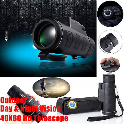 New Outdoor Monocular Optical Day&Night Vision 40X60 HD Hunting Hiking Telescope