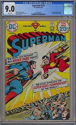 Superman #276 CGC 9.0 VF/NM Wp First Captain Thunder DC Comics 1974 Cardy Cover