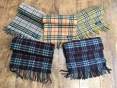 Genuine Vintage Burberry Heritage Check Burberry Scarves Wool / Cashmere