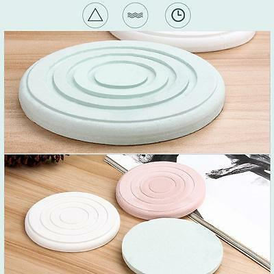 4 Pcs Powerful Water Absorption Round Mini Mat Diatomite Absorbent Coasters