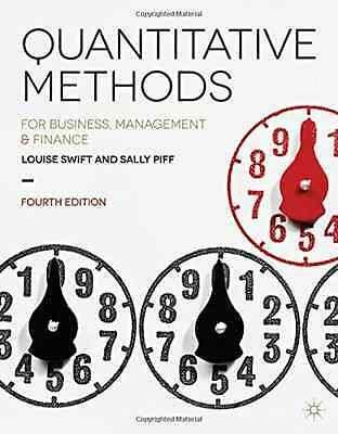 Quantitative Methods: for Business, Management and Fina - Paperback NEW Louise S