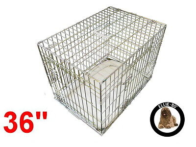 """Ellie-Bo 36"""" Large Deluxe Dog Puppy Pet Cage Carrier Crate In Gold"""