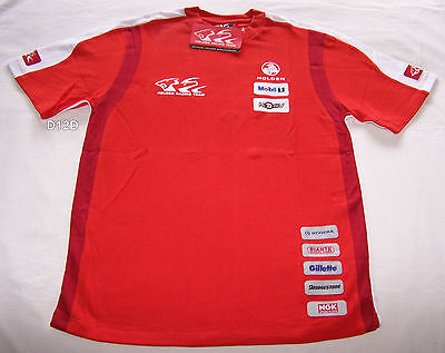Holden Racing Team HRT Boys Red Patches Short Sleeve T Shirt Size 14 New