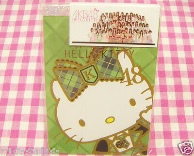 AKB48 Sanrio Hello Kitty Memo Pad / Made in Japan Stationery Green