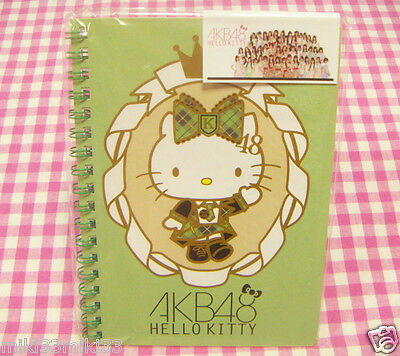 AKB48 Sanrio Hello Kitty B6 Ring Notebook / Made in Japan Stationery Green