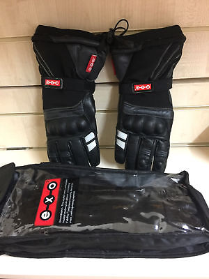 EXO2 Stormguard Heated Gloves Motorcycle Motorbike Touring (No connectors) M