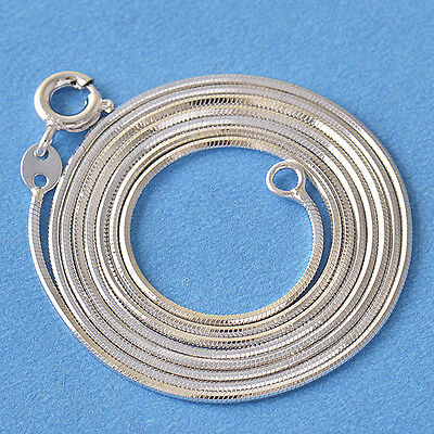 24 inches 9k white gold filled womens snake chain necklace F4883