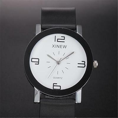 Luxury Men Quartz Dial Leather Watch Stainless Steel Analog Casual Wrist Watches