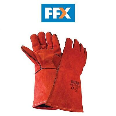 Scan SCAGLOWELRED Welders Gauntlet - Red