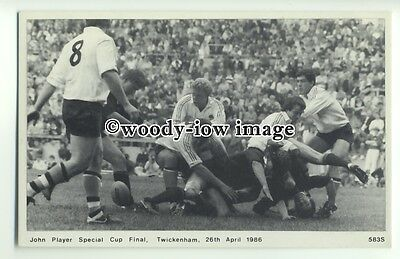 su2530 - Rugby Tackle at the John Player Special Cup Final 26/04/1986 - postcard