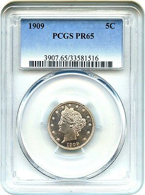 1909 5c PCGS PR 65 - Liberty V Nickel