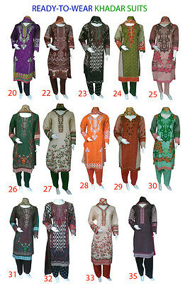 Embroidered Winter Khadar Cotton Salwar Kameez Readymade Pakistani Indian Asian
