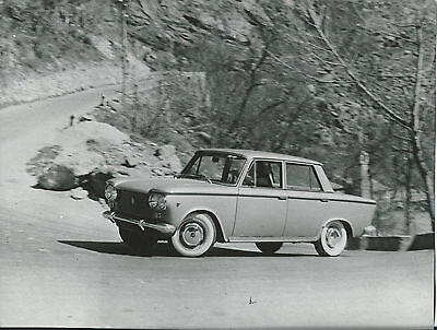 Fiat 1300 Original Press Photograph Car in Action on a Bend Excellent Condition