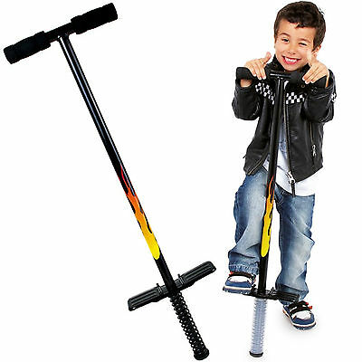 Brand New Childrens Traditional Pogo Stick Toy Flames Design Outdoor Exercise