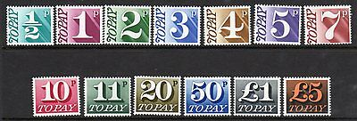 D77-89 1970 Postage Due Set UNMOUNTED MINT