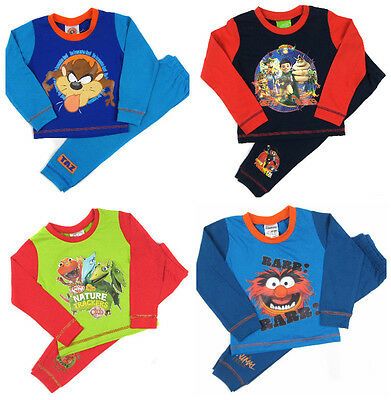 Toddler Boys Character Pyjama Taz Manian Devil Tee Fu Tom Dinosaur Train Muppets