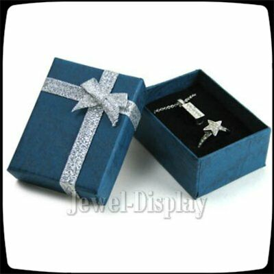 10 Dark Blue Jewellery Packaging Gift Box Ring Earing 6x5x3cm 2.4 x 2 x 1.2 inch