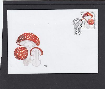 Estonia 2016 Fly Agaric Mushroom First Day Cover FDC Tallin special h/s