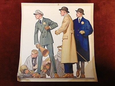 Vintage 1920s HART SCHAFFNER MARX Mens Clothing Advertisemnt poss JC LEYENDECKER