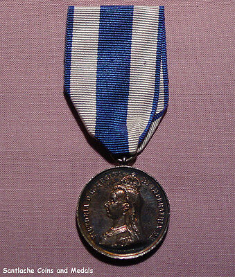 1897 Official Queen Victoria Diamond Jubilee Service Medal In Silver