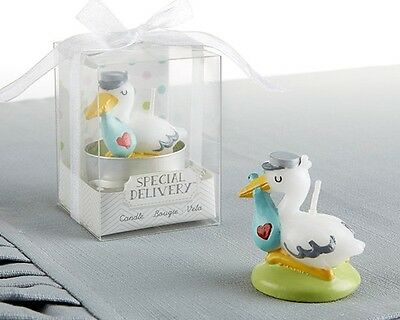 72 Adorable Special Delivery Stork Candle Baby Shower Party Gift Favors
