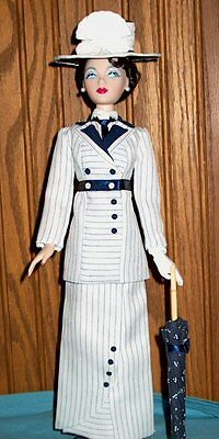 Edwardian Somewhere in Time era clothes Re-accessorized Titanic suit fits 15in