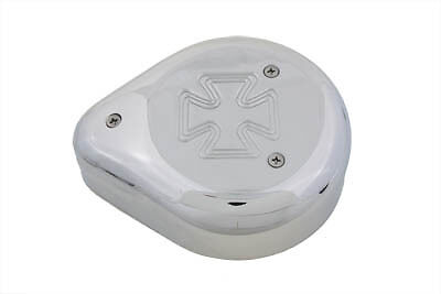 Tear Drop Air Cleaner Maltese Chrome,for Harley Davidson motorcycles, by V-Twin