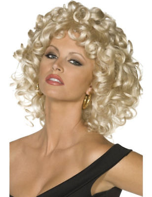 Adult Ladies Official Grease Sandy Fancy Dress Costume Wig