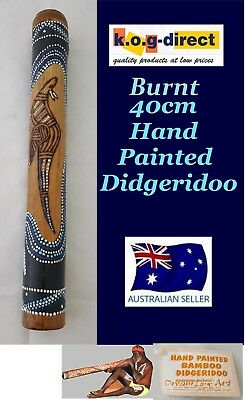 Didgeridoo Burnt Bamboo 40Cm Aboriginal Beautifully Hand Painted New Bl
