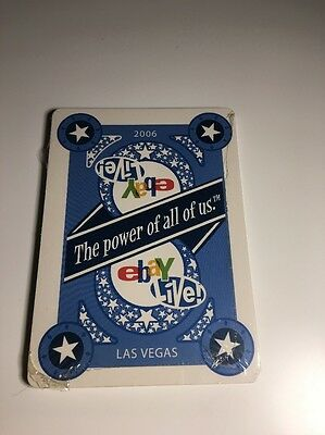 eBay Live Las Vegas 2006 Sealed Playing Card Set Blue It The Power Of Us
