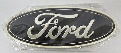 AS NEW 147mm X 57mm BLACK FORD BADGE - GS80