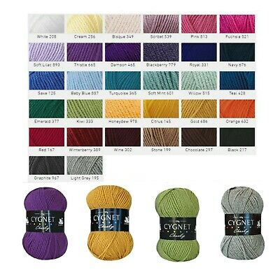 Cygnet Chunky Acrylic Knitting Wool Great Value - All Colours  (Free P&P)