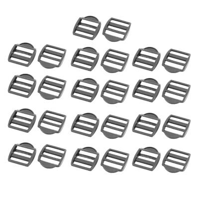 Backpack Plastic Rectangle Strap Tie Connecting Tri Glide Buckle Black 25 Pcs