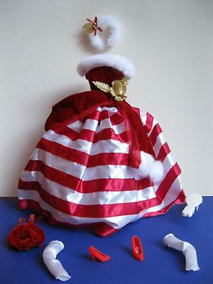 Barbie Doll PEPPERMINT PRINCESS CLOTHES HOLIDAY CHRISTMAS GOWN DRESS RED STRIPED