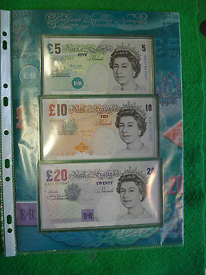ROYAL MINT Lowther Low Number First run Set £20 & £10 AA01 001047 £5 HA01 001047