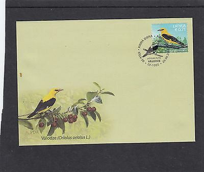 Latvia 2015 Bird - Golden Oriole First Day Cover FDC Riga pictorial h/s